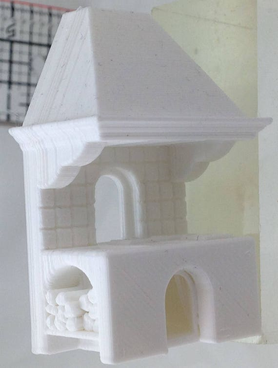"1//2/"" Dollhouse Miniatures.3D Printed floor lamp scale Half-inch"