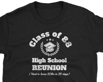 Vintage Class of 1988 Hillside High School New Jersey NJ T-Shirt XL qAwa7