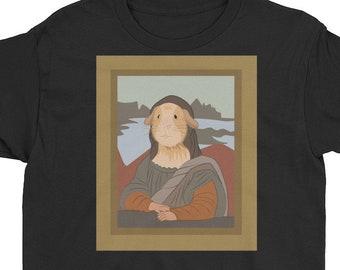 Kids Mona Lisa Guinea Pig,guinea pig t shirt,guinea pig art,guinea pig portrait,leonardo de vinci,mona lisa painting,cute guinea pig art,gui