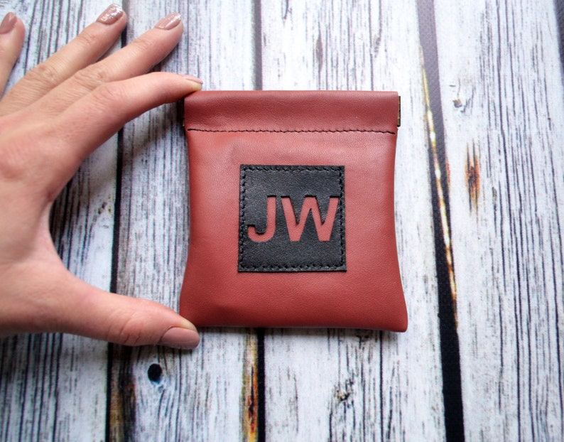 JW Leather Business card wallet Flex frame pouch earbuds holder Card soft headphone case JW gift Jehovah Witnesses pioneer kids gift service