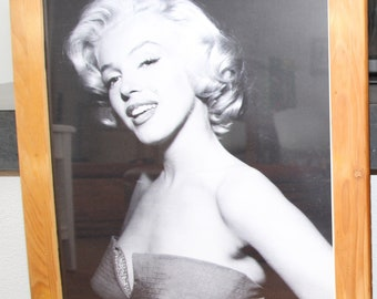 Vintage Bilderrahmen Holz Marilyn Monroe