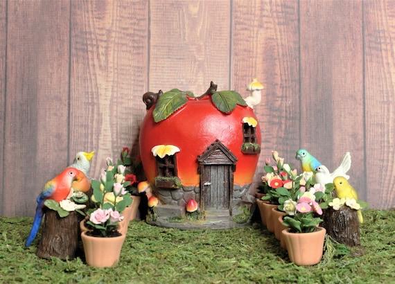 1:12th amapola roja en una olla Casa de Muñecas en Miniatura Accesorio De Jardín De Flores