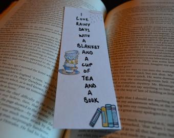 I Love Rainy Days - Bibliophile's Bookmark