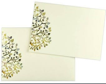Colorful Leaves Note Cards with Matching Envelopes