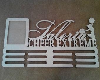 Cheerleader Medal Holder, Cheer Extreme, Personalized Medal Holder, Cheer Photo frames, Cheer gift, Personalized Photo frames, Cheerleading