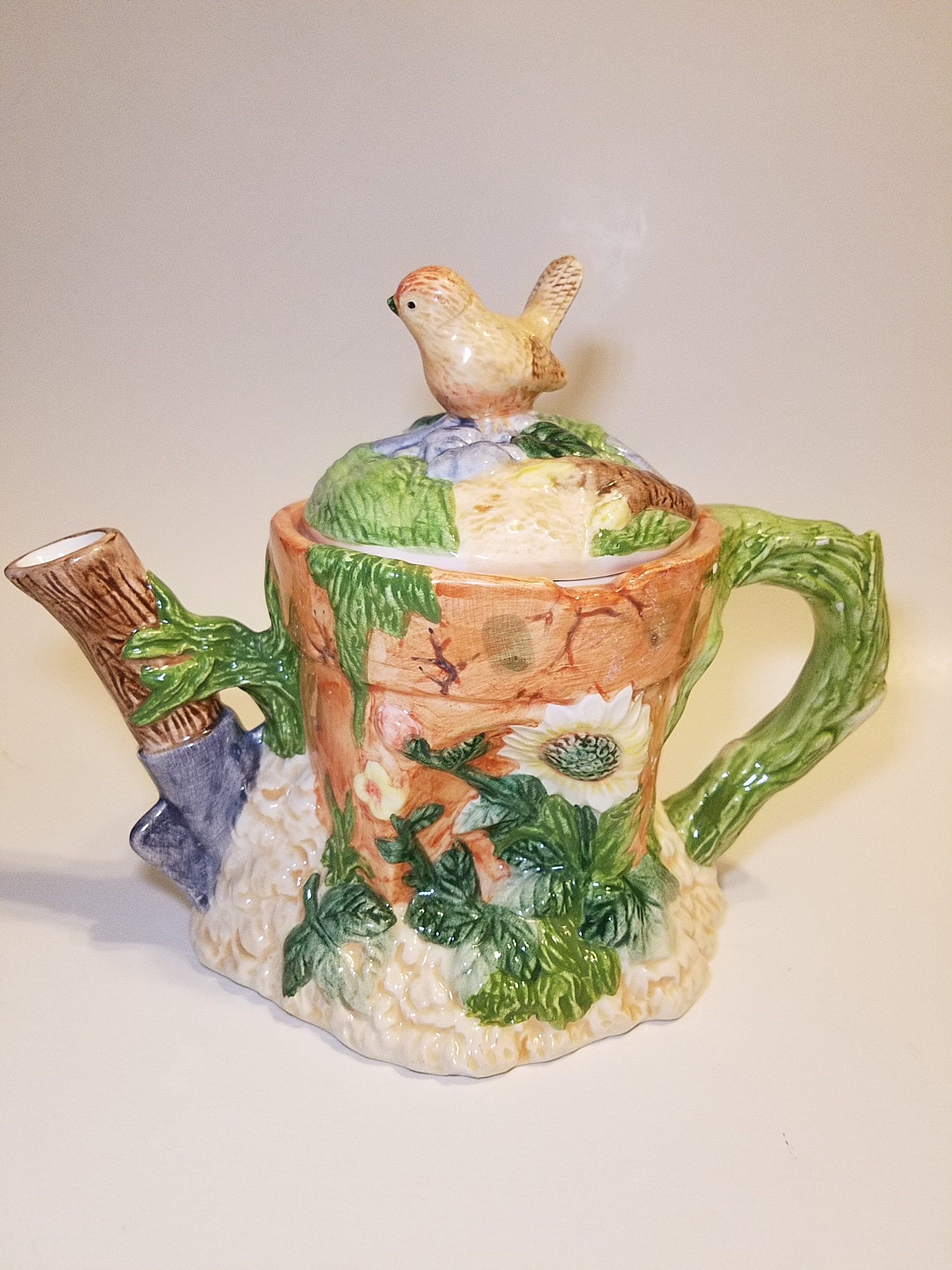 Etsy & Russ Berrie and Company Spring teapot Flower pot teapot Russ Collectibles Spring Teapot