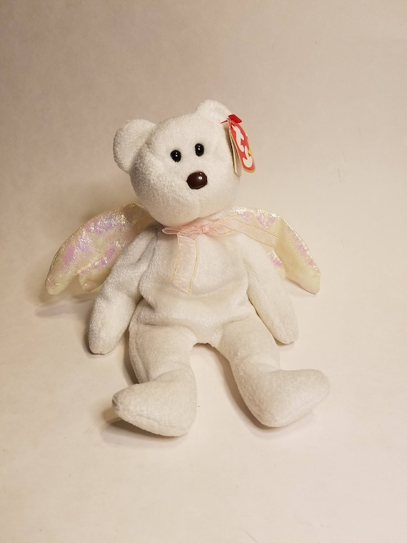 02af46e97f9 TY Halo from The Beanie Babies Collection White angle bear