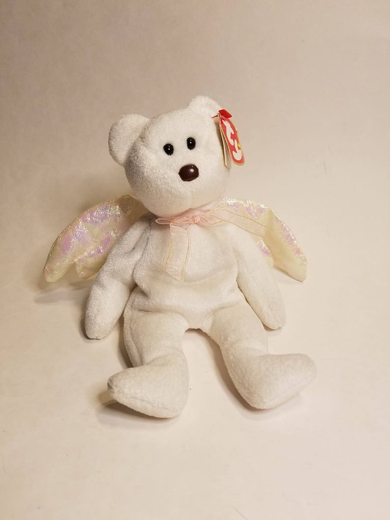 8dad16112da TY Halo from The Beanie Babies Collection White angle bear