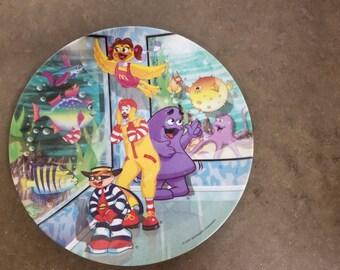 Vintage Ronald McDonald And Hamburgler Plate