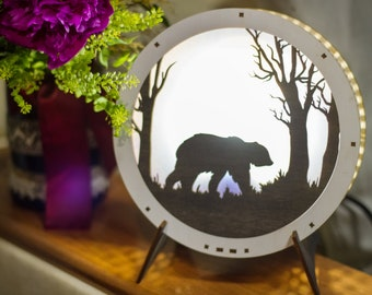 "Lamp ""Bear in the forest"""