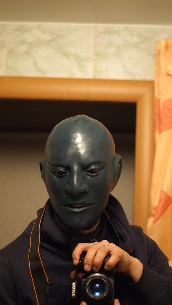 Fantomas LATEX MASK MADE OF FOAMED LATEX  Carnival Mask  rubber mask