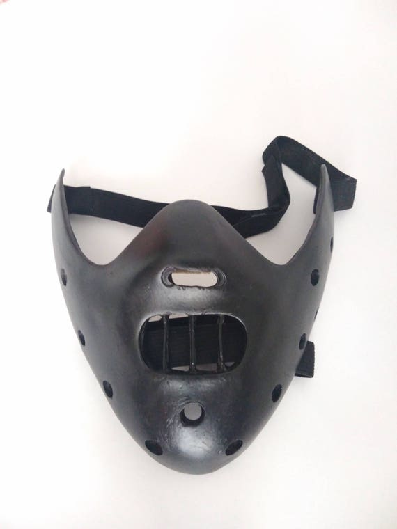 Hannibal Lecter Mask The Silence Of The Lambs Mask Black Etsy Great news!!!you're in the right place for hannibal lecter mask. hannibal lecter mask the silence of the lambs mask black halloween mask creepy mask