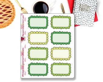 The Grass is Greener Half Boxes Planner Stickers