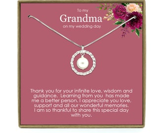 Grandma Wedding Gift Wedding grandmother gift Gift for grandma on wedding day Bridal party gifts Grandma gift.