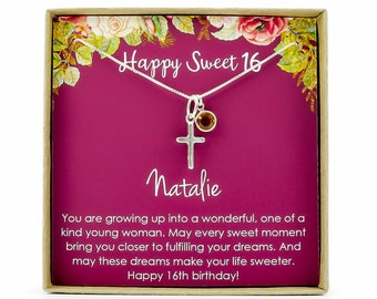 Sweet 16 Gift 16th Birthday Girl Necklace For Year Old