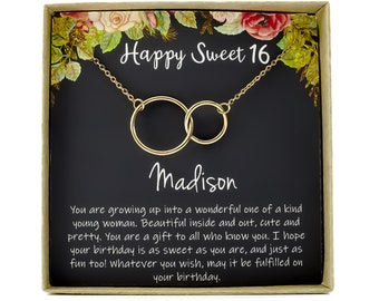 Sweet 16 Gift 16th Birthday Girl Necklace For Year Old Sixteen Jewelry