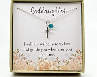 Goddaughter Gift Necklace Confirmation First Holy Communion Christmas Birthday Sterling