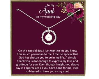 Muse Infinite Aunt of The Bride Gift Necklace Gifts for Aunt of The Bride Jewerly