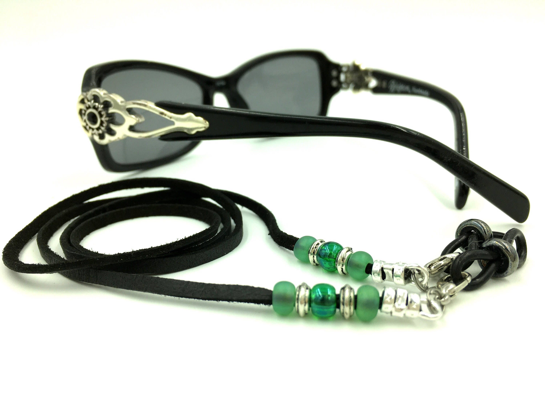50 Black Beaded Eyeglass Holder Necklace Findings for Eye or Sun Glasses W//Loops