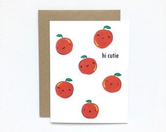 Hi Cutie - Baby Card, Brithday Card, Love Card, Friendship Card, Everyday Card, Just Because Card