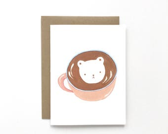 Bear Latte - Everyday Card, Just Because Card