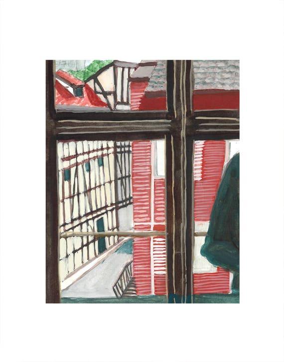 Widok Na Kłajpeda Litwa Okno Muzeum Zegara 11x14 Cal Matowy Etsy