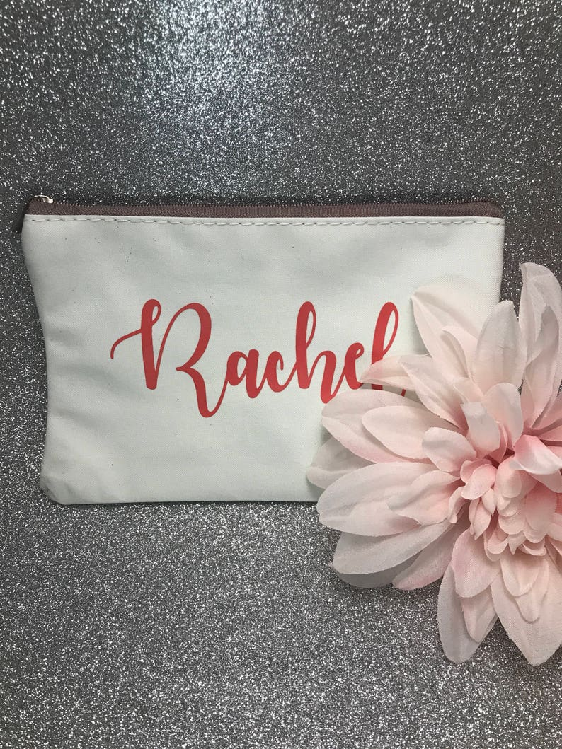 Bridesmaid Makeup Bag Bridesmaid Gift Personalized Makeup Bag Personalized Cosmetic Bag Bridesmaid Gift Custom Cosmetic Bag
