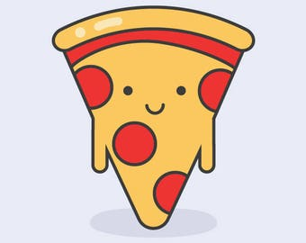 All you need is pizza flat illustration - Pizza Clip Art - EPS, JPG, PNG