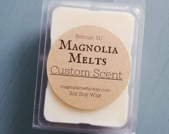 Custom Scent Labels, Custom Label Wax Melts, Soy Wax Melt, Magnolia Melts, Custom Scented Wax Melts, Handmade Wax Melts, Custom Scent