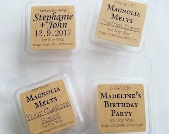 Custom Designed Labels, TARTS, WAX SHOTS, Custom Label Wax Tarts, Magnolia Melts, Custom Scented Wax Melts, Handmade Wax Melts, Custom Scent