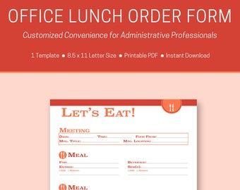 Office Lunch Order Form Template Barca Selphee Co
