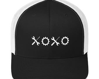 XOXO Black and White Trucker Hat