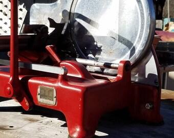 Vintage U.S. Slicing Machine co. Hand crank slicer *Rare find*