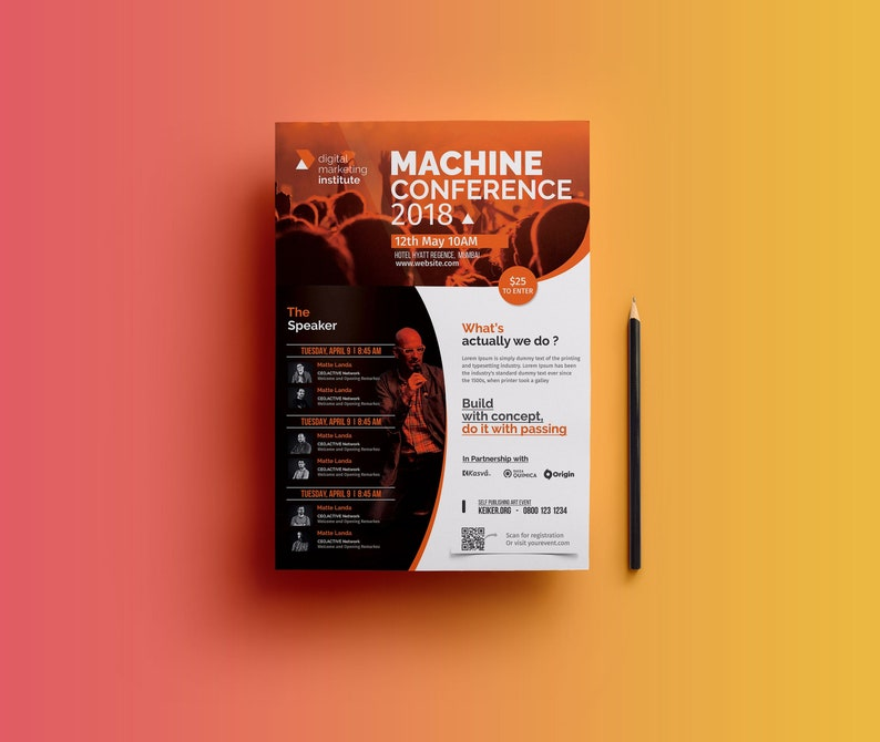 Event Flyer Template | Event Poster | Conference Flyer Template | Event  Flyer Photoshop Template | Instant Download V02