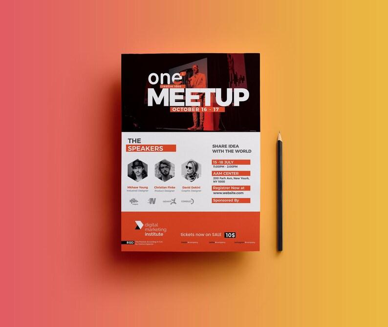 Event Flyer Template | Event Poster | Conference Flyer Template | Event  Flyer Photoshop Template | Instant Download V08