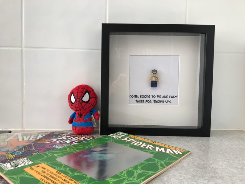 Marvel Stan Lee Deadpool Superhero Geek Retro Custom Mini Figure Minifig