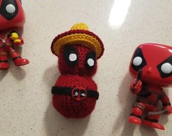 Deadpool chimichanga amigurumi - small toy - Captain Deadpool