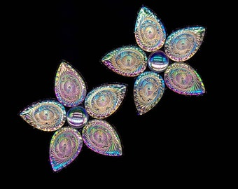 BLACKLIGHT GLOW PASTY Set - Buy 2 Get Free Matching Bottoms and Sample Glue - Festival Rave Clothing – Gina's Gems Reusable Designer Pasties