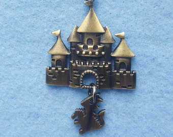 Fairy Tale Castle with Dragon