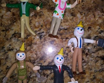 Jack in the box bendable kids meal toys