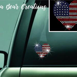 American Flag Heart Sticker San Diego Sticker