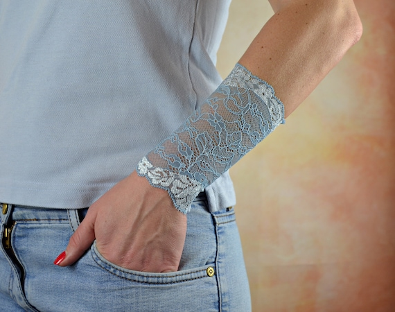 Long Cuff Bracelet Wrist Scar Cover Wrist Tattoo Cover Up Etsy