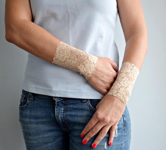 Poignet Tatouage Cover Up Dans Bracelet Manchette En Dentelle Etsy