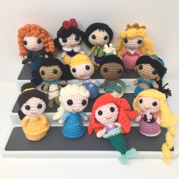 Amigurumi Disney Princess Dolls Crochet Pattern Bundle #crochet ... | 570x570