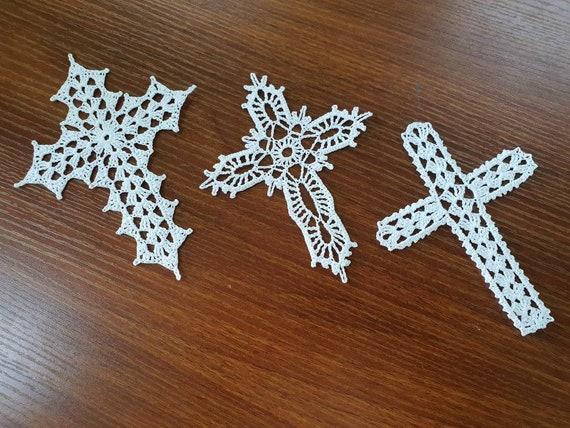 Cross Ornament Cross Bookmark Crochet Cross Etsy