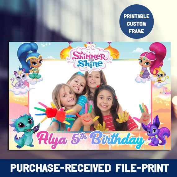 Shimmer And Shine Photo Booth Frame Shimmer And Shine Etsy