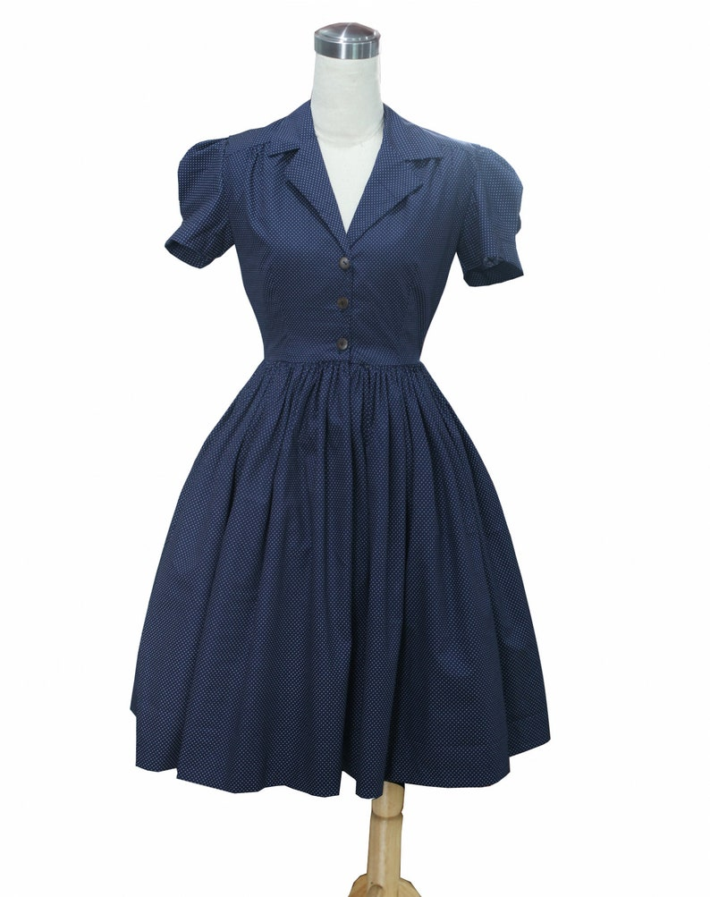 Plus Size Polka Dot Dresses – Vintage 40s, 50s, 60s, 70s Dresses LOLO Dress #7 -