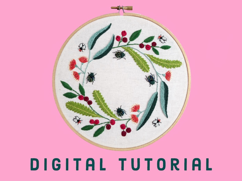 Embroidery Tutorial  Learn to Embroider  Christmas Beetle image 0