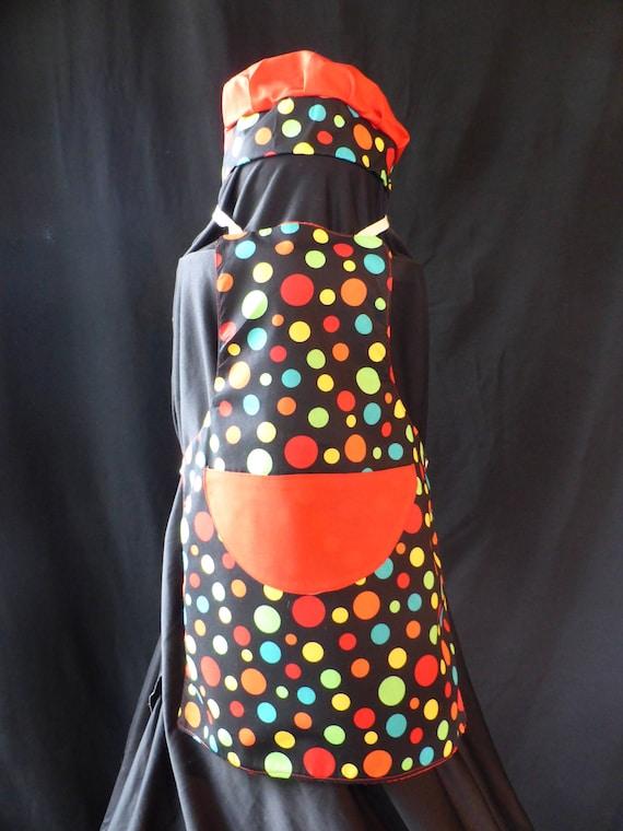 Handmade childrens reversible multi-coloured apron