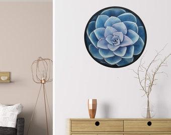 Botanica Blue Cactus Framed Artwork